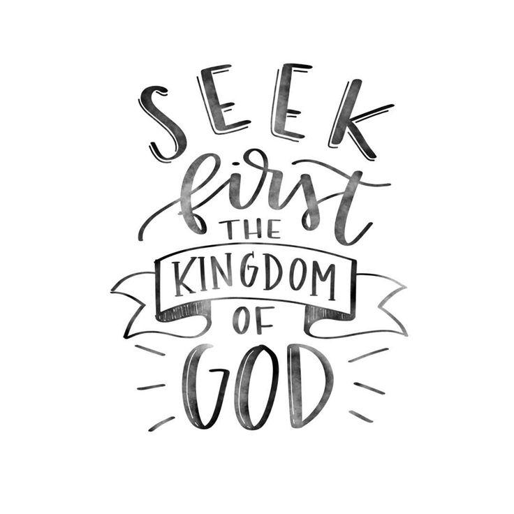Matthew 6:33 - Instagram photo by @heartmadewhole #30daysofbiblelettering