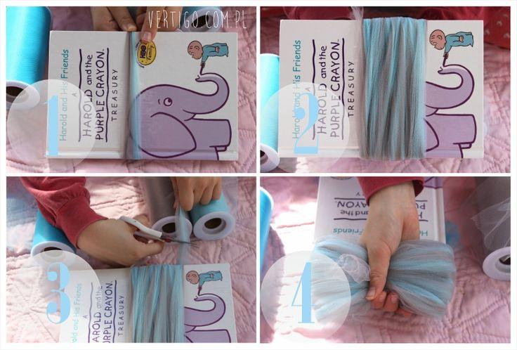 jak zrobić tiulowe pompony