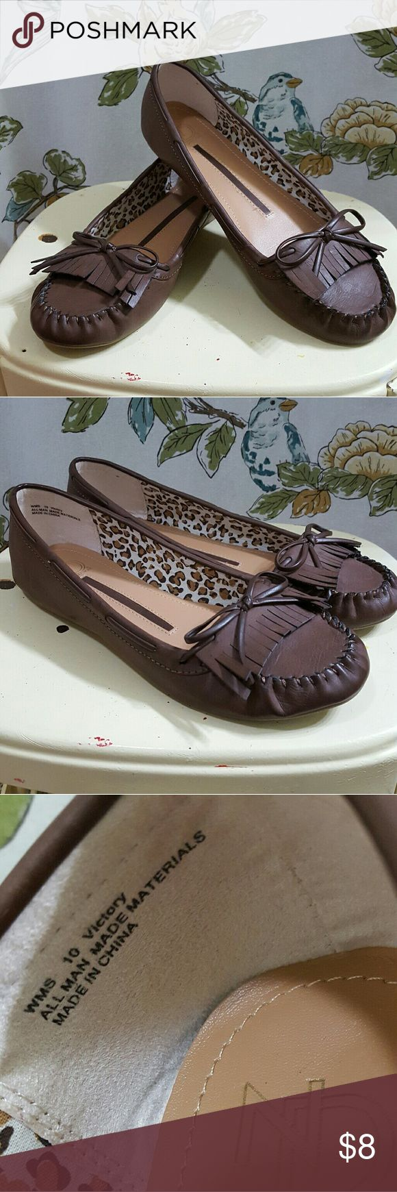 💜Very Cute Loafers💜 Dark Brown. Loafers. Moccasins. Leather look. Like new! One Direction Shoes Flats & Loafers