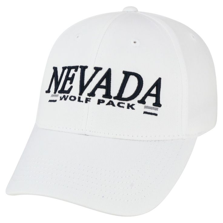 Baseball Hats NCAA Nevada Wolf Pack White, Men's