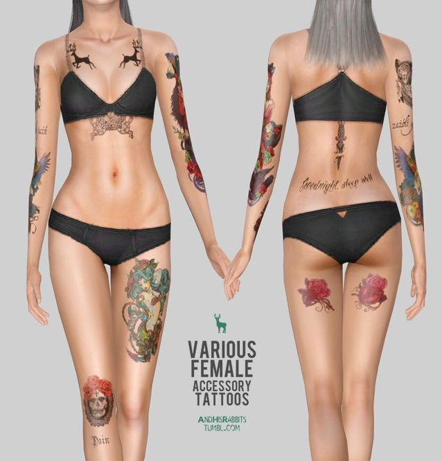 My Sims 3 Blog: Accessory Tattoos by Andhisrabbits