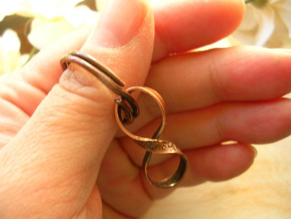 8th Anniversary Gift, Custom Bronze Infinity with Handmade Key Ring, Figure 8, Infinity for Husband -PERSONALIZED. $38.00, via Etsy.