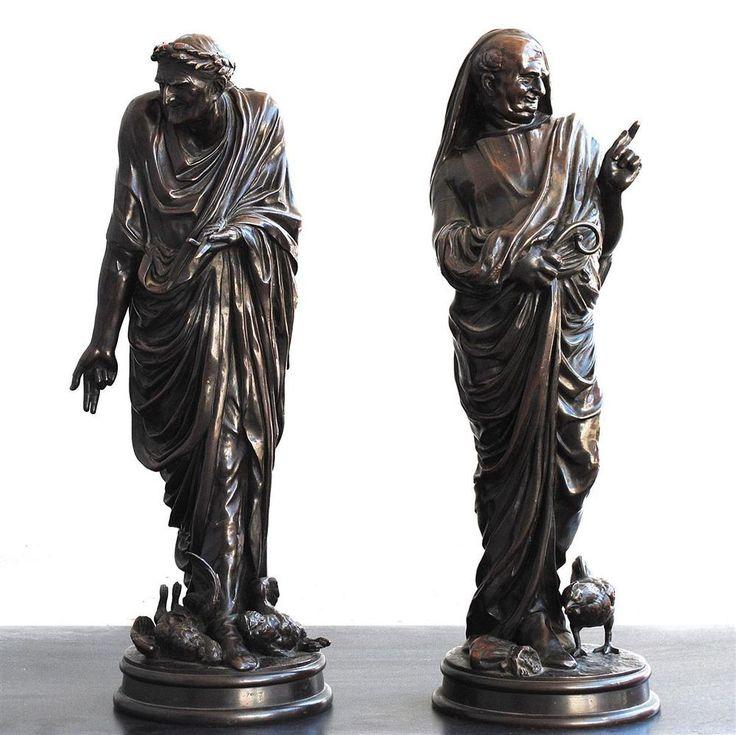 Les philosophes antiques galvanoplastie et bronze époque fin XIXème