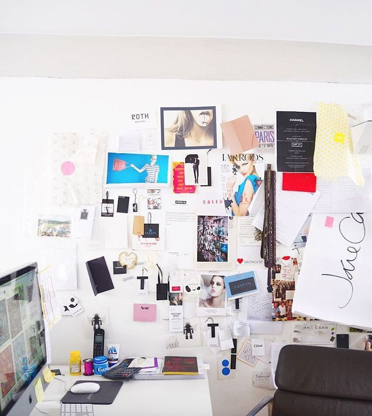 Forget mood boards, we're all about the mood wall ✂️📌 #JaneCarrHQ #london #mood #colourinspiration #onmydesk #design