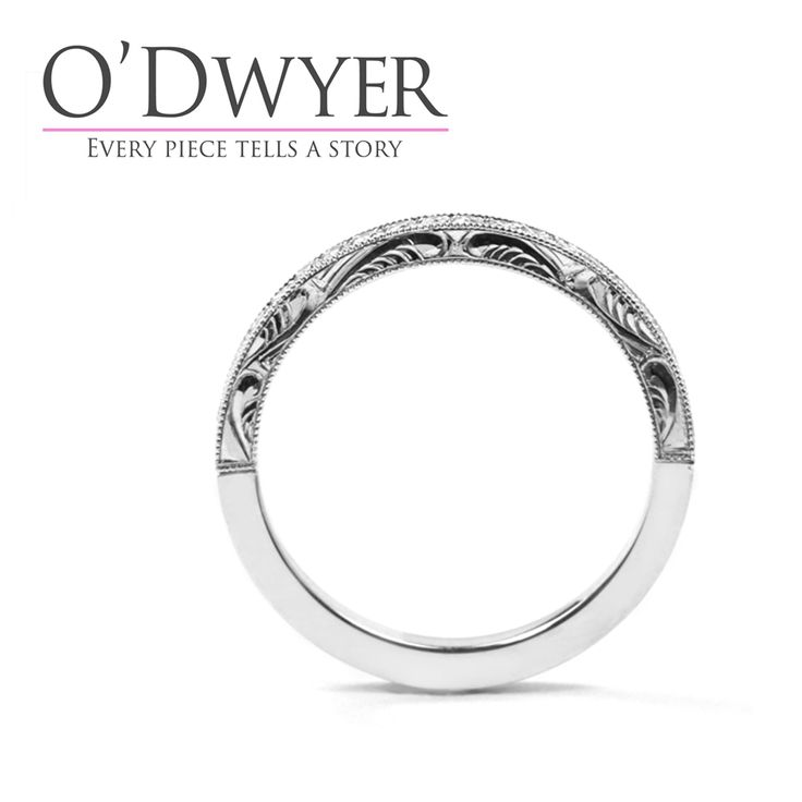 The perfect style never goes out of fashion. Our Classic diamond set band with detailed hand engraving as in the 1920s, 1930s, 1940s… Vintage style for a modern life.  #odwyergoldsmith