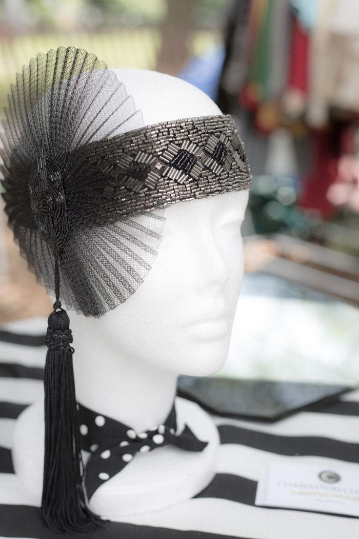 Modern repro; Jazz Age Lawn Party1920S Baby Shower Games, 20S Parties, Roaring 20S, Head Piece, 20S Hats