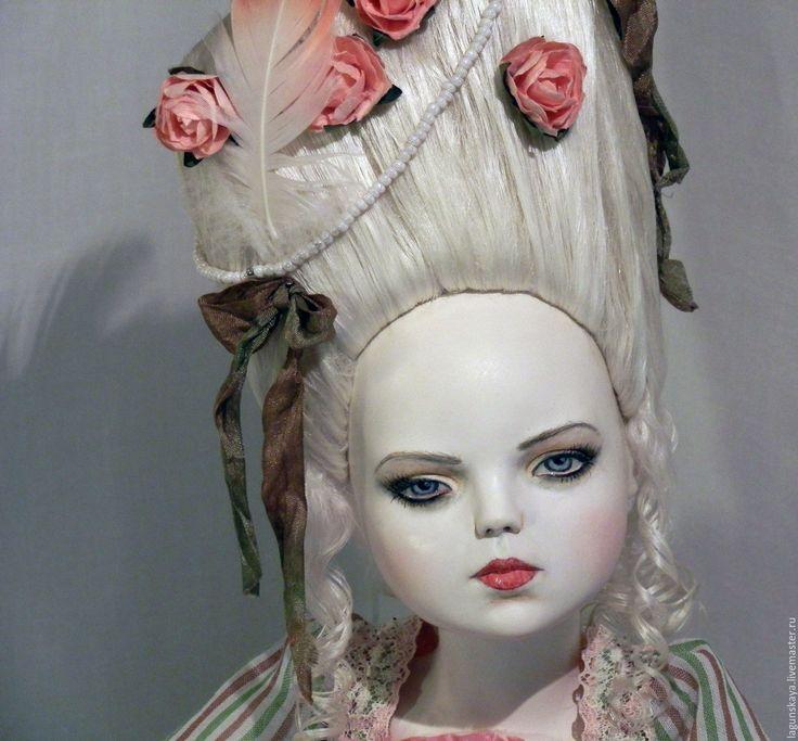 Купить Атенаис. Предчувствие - комбинированный, рококо, принцесса, будуарка, кукла в подарок, флюмо, батист, опилки