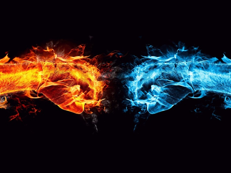 thunder happens when fire meets ice