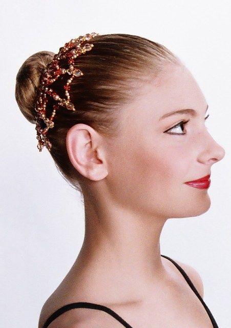 Bun Buddy Web - Emerald Green Buy Dance tiaras, Swarovski crystal beaded headpieces for ballet dancers