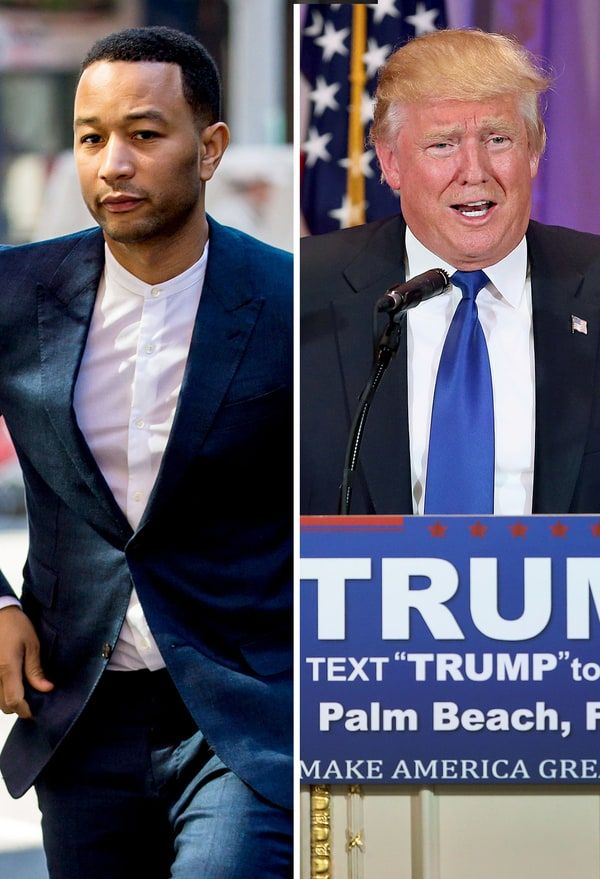 John Legend slammed Donald Trump via Twitter on Friday, March 11, after the GOP frontrunner's son, Donald Trump Jr., criticized the protesters at a Trump rally — see what the singer said