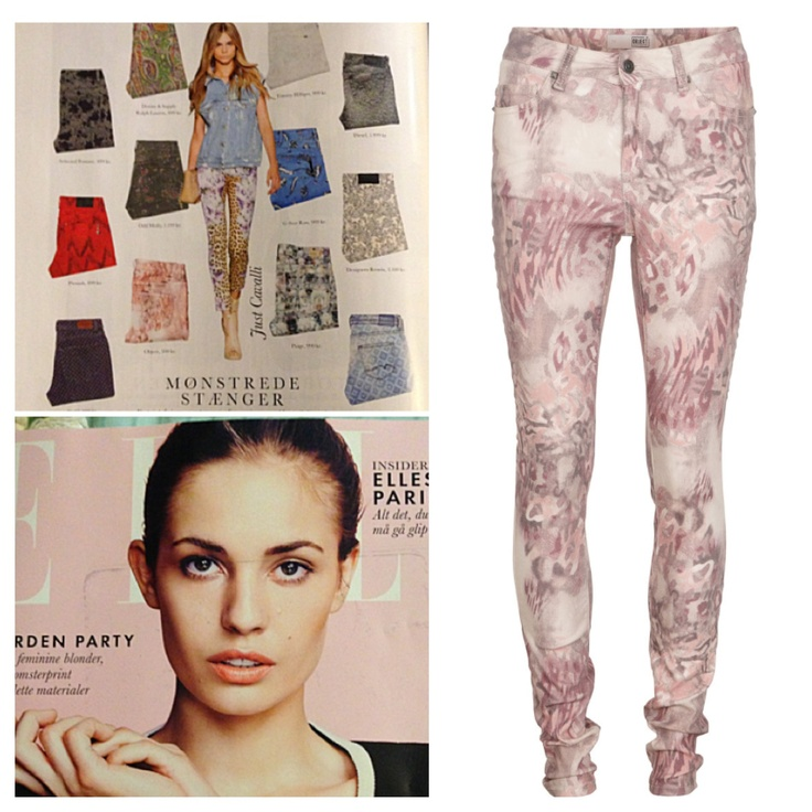 Printed slim fit pant in Danish ELLE magasine, June 2013 #objectfashion #printedjeans #ellemagazine Buy them on www.objectci.com