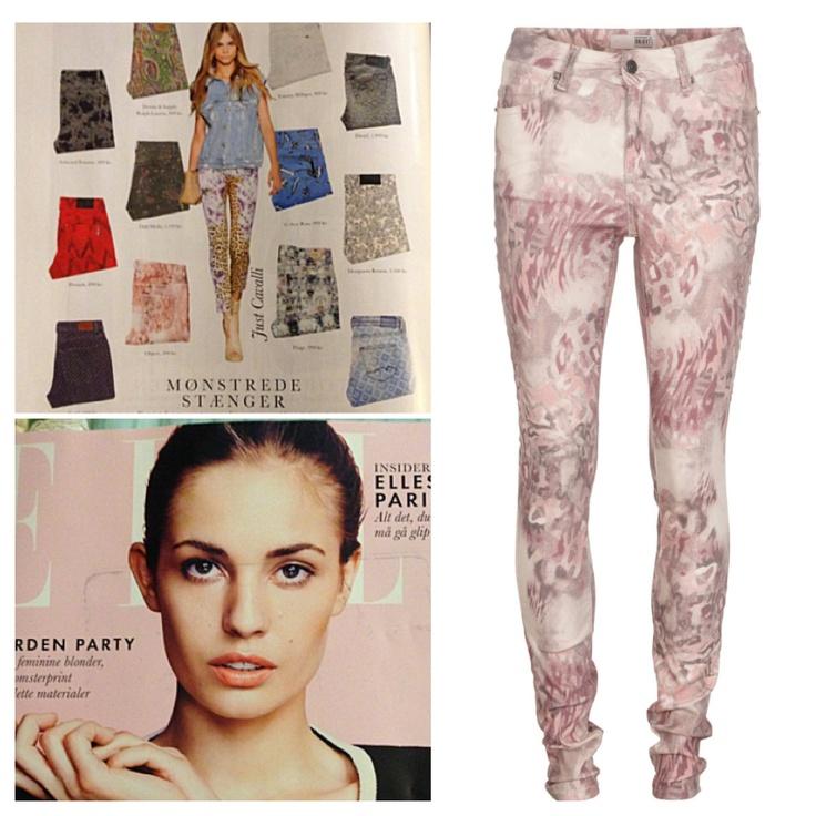 Printed slim fit pant in Danish ELLE magasine, June 2013 #objectfashion #printedjeans #ellemagazine Buy them on www.objectci.com