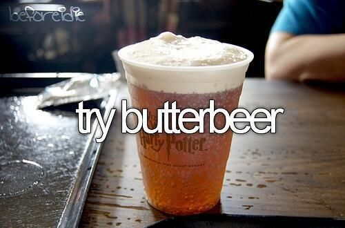 http://www.foodnetwork.com/recipes/butterbeer-recipe.html Checked off ! At the harry potter studios