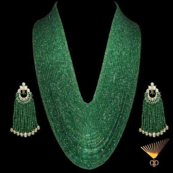 Gorgeous Zambian Emeralds Strands