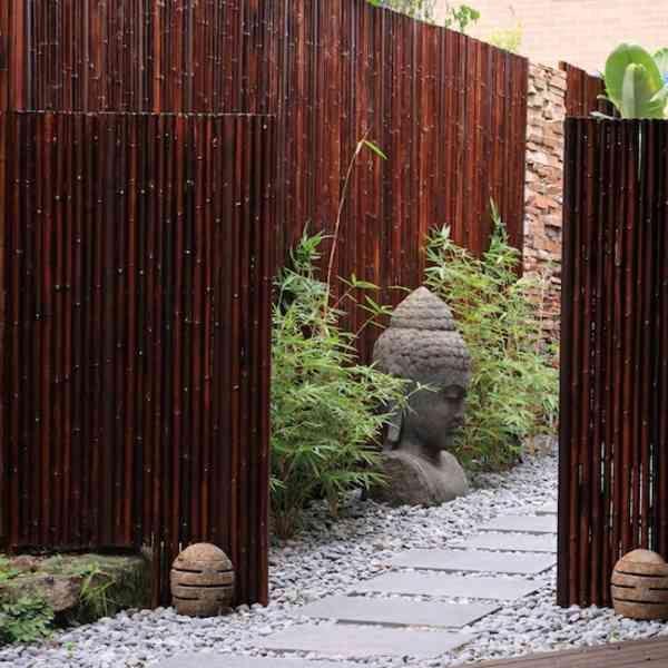 La canisse bambou – une clôture de jardin jolie et écologique