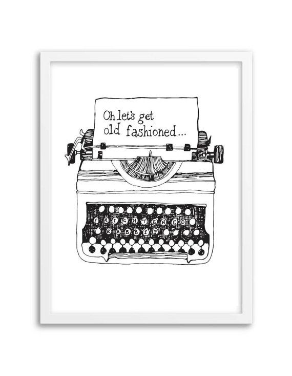 Oh lets get old fashioned...  Inspire by the band, Frightened Rabbit  Hand drawn then digitally printed on 250gsm paper   Prints will be packed and sent