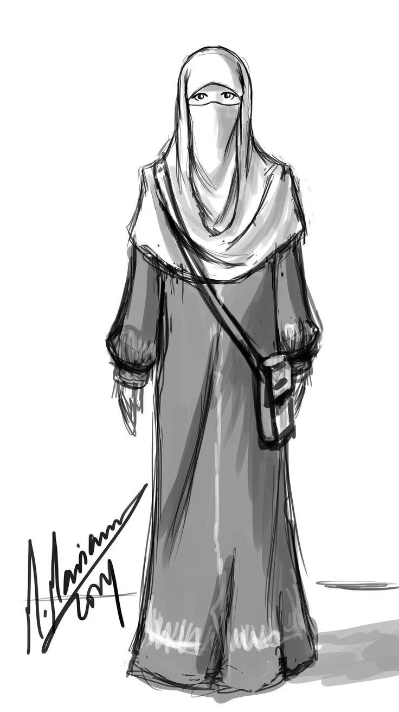 niqabi sketch by madimar.deviantart.com on @deviantART