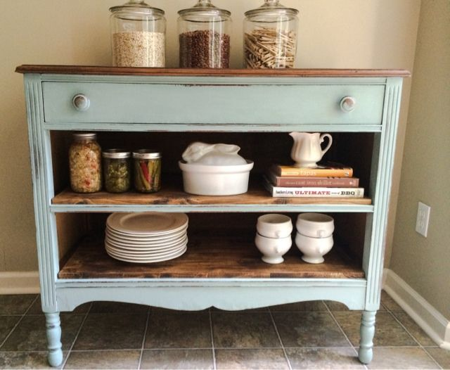 """Happy Sunday! I'm popping in today to share some of the awesome storage ideas that were linked up at this month's """"Get Your DIY On"""" party! I always need help with storage and organization, so these ideas were especially inspiring and helpful!  Enjoy the features, and remember to pin from original sources! Refinished Dresser …"""