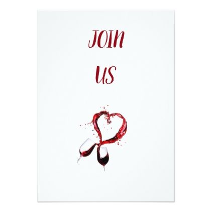 POUR THAT WINE VALENTINE PARTY INVITATION - valentines day gifts gift idea diy customize special couple love