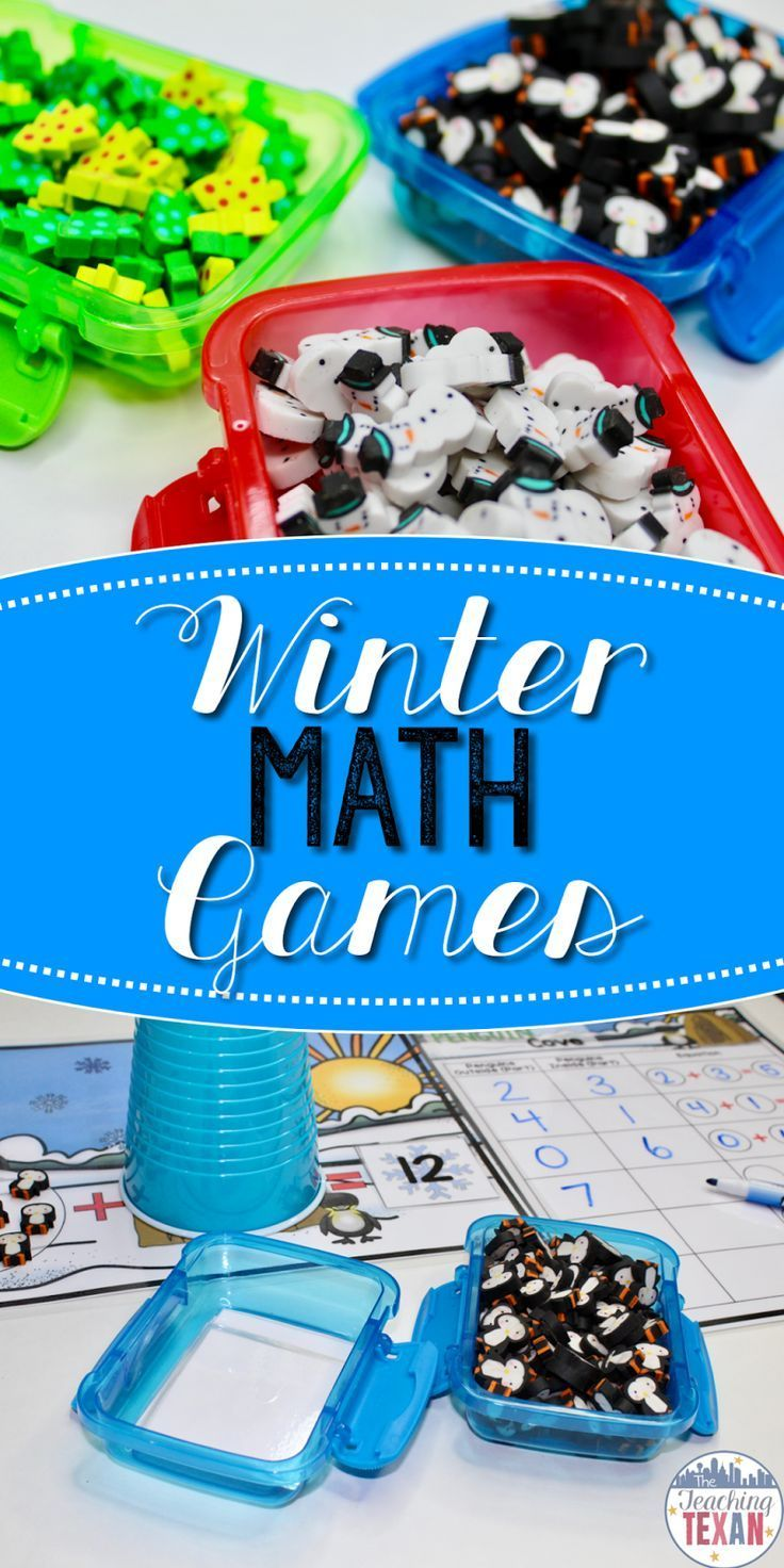 Bring the joy back to math and engage your students during your math block with games!  These Winter-inspired math games are perfect for centers in Kindergarten and some First Grade classrooms.  Number sense, subitizing, addition, subtraction, critical th