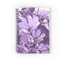 Spiral Notebook. #Purplecosmos #artsycosmos #purpleflowers #sandrafoster