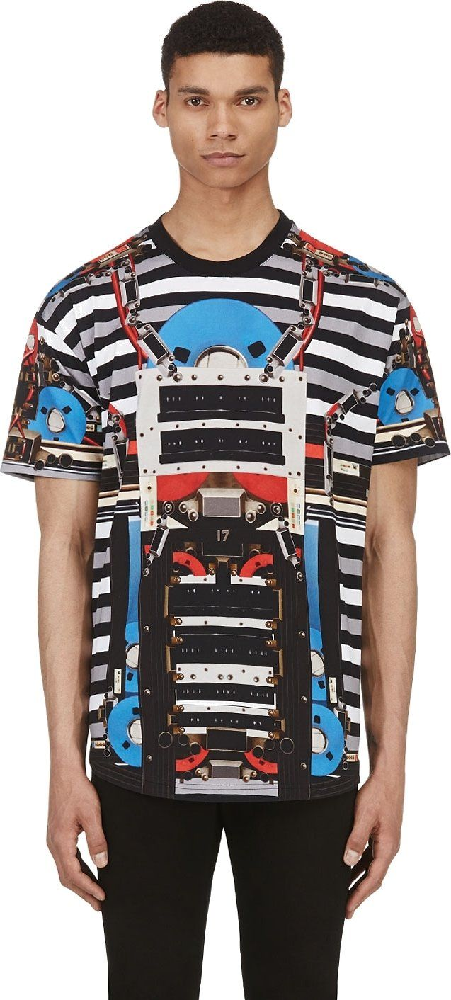 Givenchy  Black   Grey Robot Graphic T-Shirt  6acbd88b1