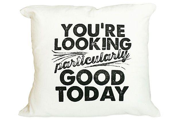 Quot Particularly Good Quot 16x16 Pillow Black On Onekingslane