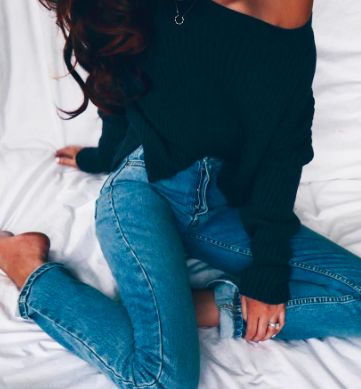 I know it's about the sweater, but I just want those jeans