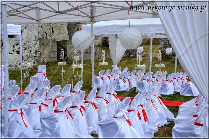 dekoracje ślubne w plenerze, ślub kościelny w plenerze, organizacja ślubu w plenerze wedding outdoors ceremony
