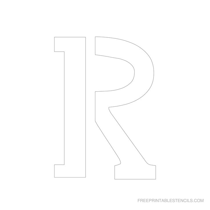 Free Printable Letter Stencils | Free printable 6 inch alphabet letter stencils . Print these free ...