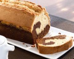 Cake marbré au chocolat facile (rapide) - Une recette CuisineAZ