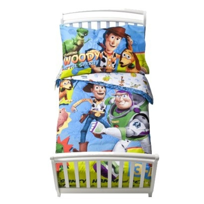 find this pin and more on bedroom ideals for the baby i think i like this toy story set better - Toy Story Toddler Sheets
