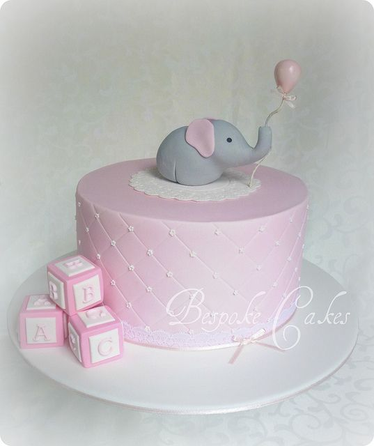 Pink baby shower cake by Bespoke Cakes, via Flickr