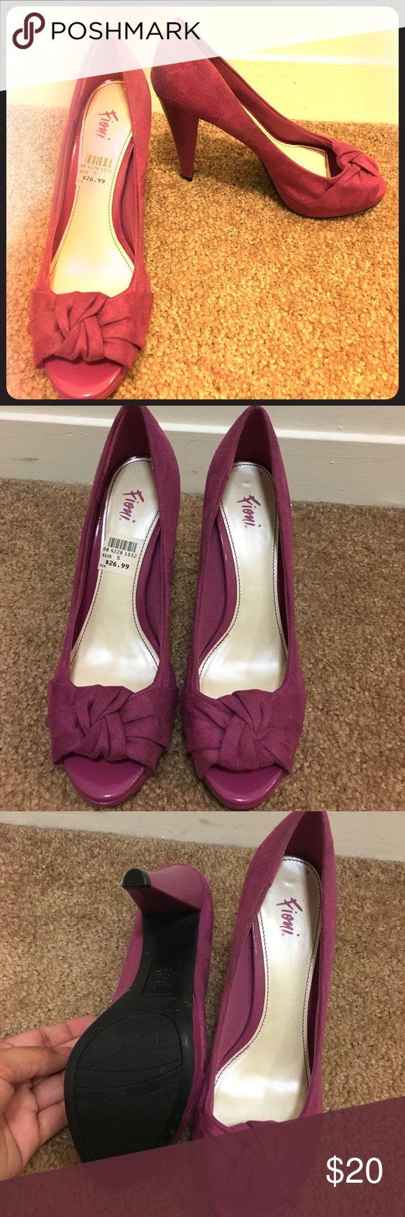 New violet peep toe pumps Hi! I'm selling a pair of violet peep toe pumps. I've never worn them Shoes Heels