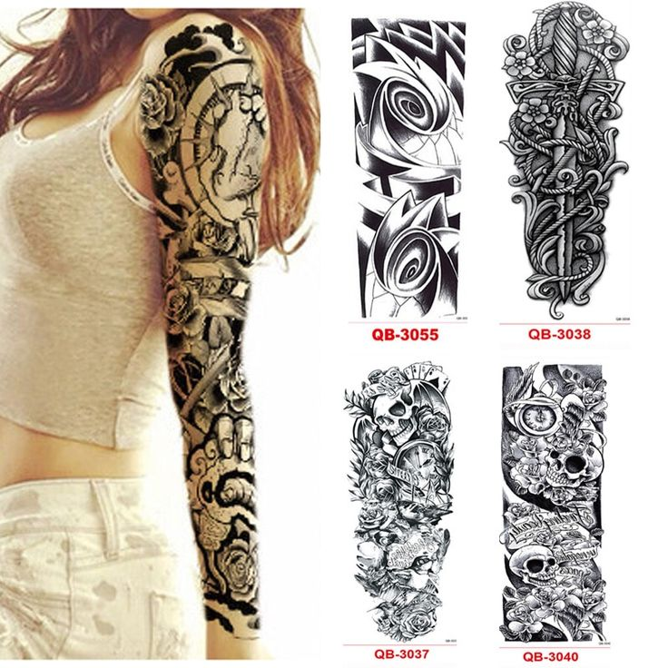 Tattoo Designs For Women Sleeve, 3Pcs Temporary Tattoo Sleeve Waterproof Tattoos…