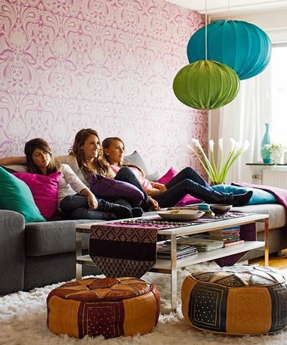 Colourful interiors brought to by Family Living