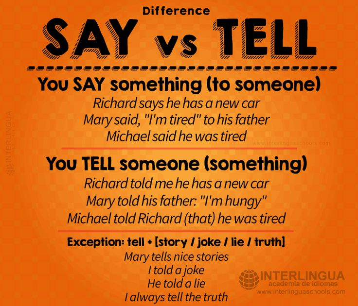 "Diferencia entre ""say"" y ""tell"" #english #ingles #academiadeinglesengranada #granada"