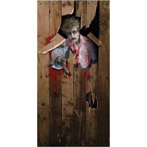 zombie door cover scary halloween decoration new 1 - Halloween Decorations 2016