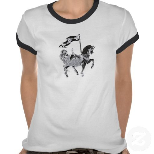 carousel horse_reversegrey t shirts #fashion #t-shirts