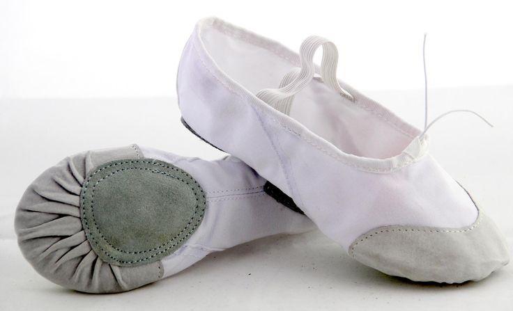 leather toe  of  ballet  slippers  shoes