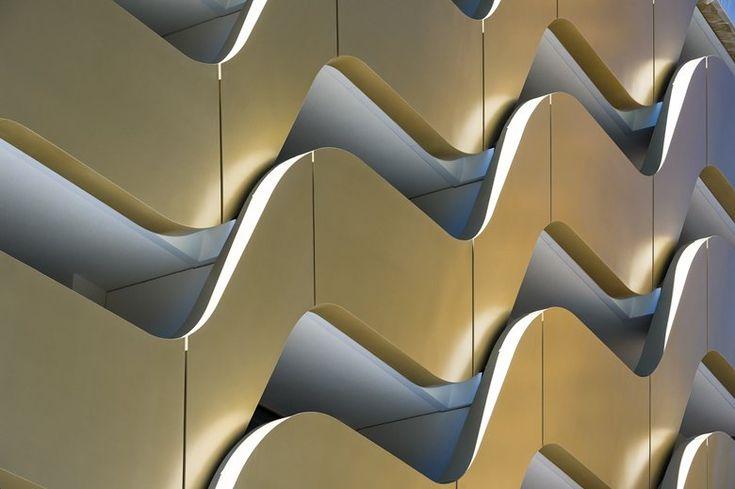 New InterContinental Davos Hotel, Gersthofen, 2014 - Oikios #gold #facade