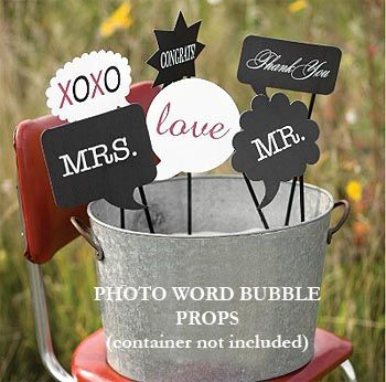 Word Bubble Prop Set Is Perfect For Adding Some Fun Props To A Photo Booth Includes Words Such As Love Mr Mrs Congrats