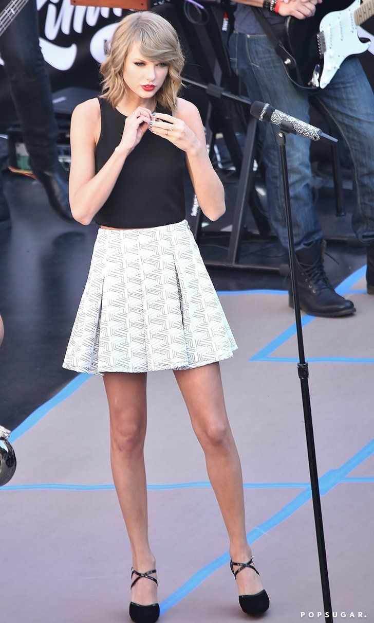 Pin for Later: Can't-Miss Celebrity Pics!  On Thursday, Taylor Swift prepped for her LA performance on Jimmy Kimmel Live.