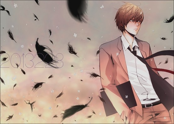 """Light Yagami from DEATH NOTE<<<WHERE WAS THIS PICTURE WHEN I WAS MAKING THAT MUSCI VIDEO OF """"BLANK PAGE PARODY?"""" THIS COULD HAVE BEEN PERFECT IN IT."""