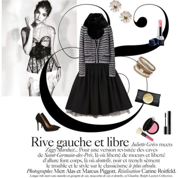 """Rive Gauche"" by naughtystylishsoul on Polyvore"