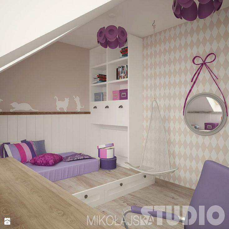 Pokój dla dziewczynki w stylu vintage - Pokój dziecka - Styl Vintage - MIKOŁAJSKAstudio