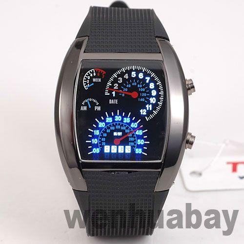 Цифровые часы синий и белый из светодиодов часы черный спидометр матричные мальчики мужская подарок Erkek специальную L8891