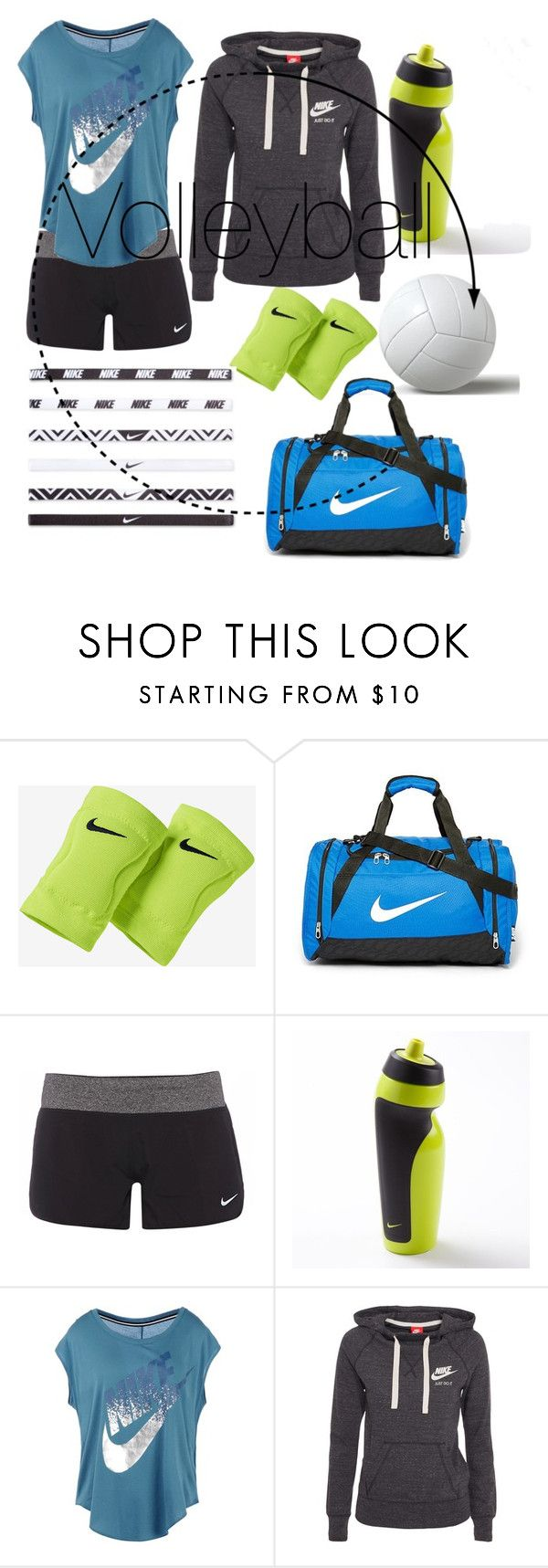 """""""Volleyball"""" by plum-perfect ❤ liked on Polyvore featuring NIKE"""