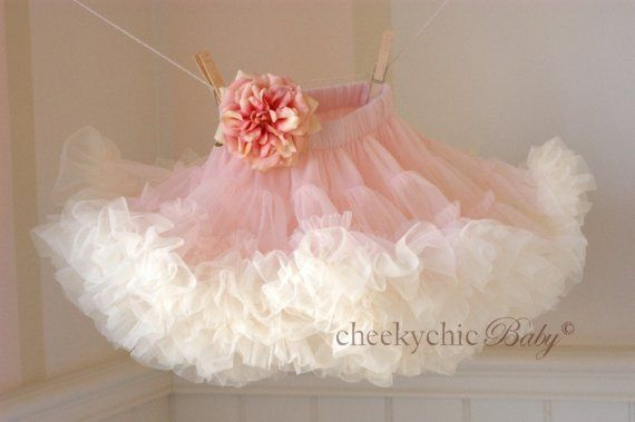 CheekychicBaby Blooming Petti Vintage Pink and by cheekychicbaby