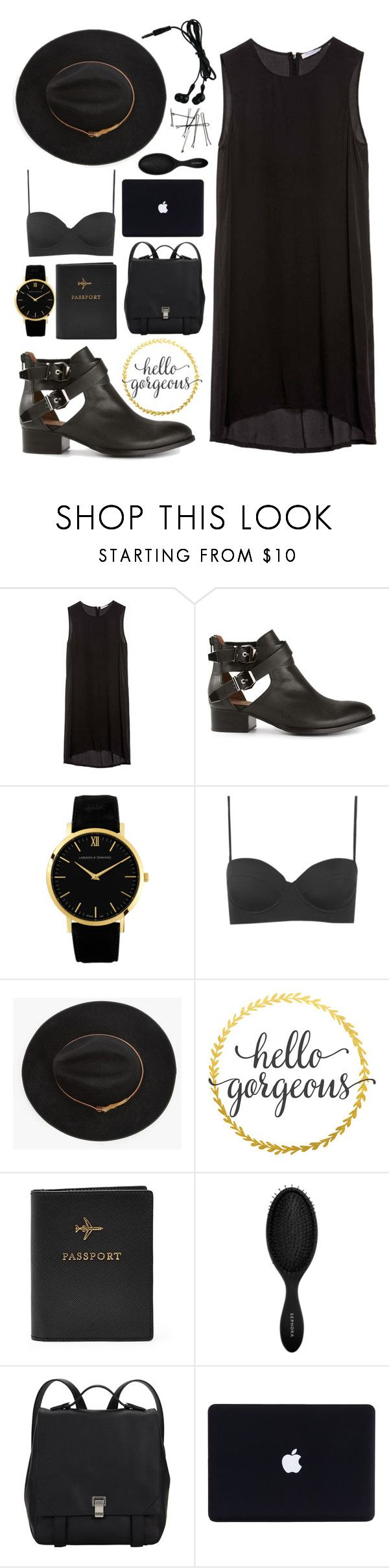 """""""#109 - Airport"""" by lolohohokoko ❤ liked on Polyvore featuring beauty, Equipment, Jeffrey Campbell, Larsson & Jennings, Topshop, Fallenbrokenstreet, FOSSIL, BOBBY, Sephora Collection and Proenza Schouler"""